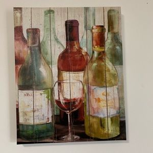 Wine Canvas Home Decor